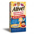 Kẹo Nhai Vitamin Tổng Hợp Trẻ Em Alive Children's Chewable Multi-Vitamin 120 Viên