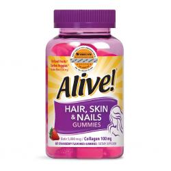 Kẹo Dẻo Vitamin Da Tóc & Móng Alive Hair Skin & Nail Gummy 60 Viên